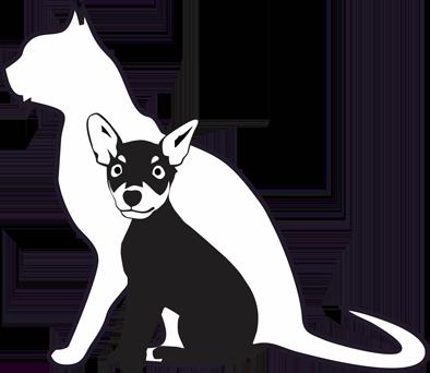 Adesivo Cachorro Pinscher E Gato Amigos