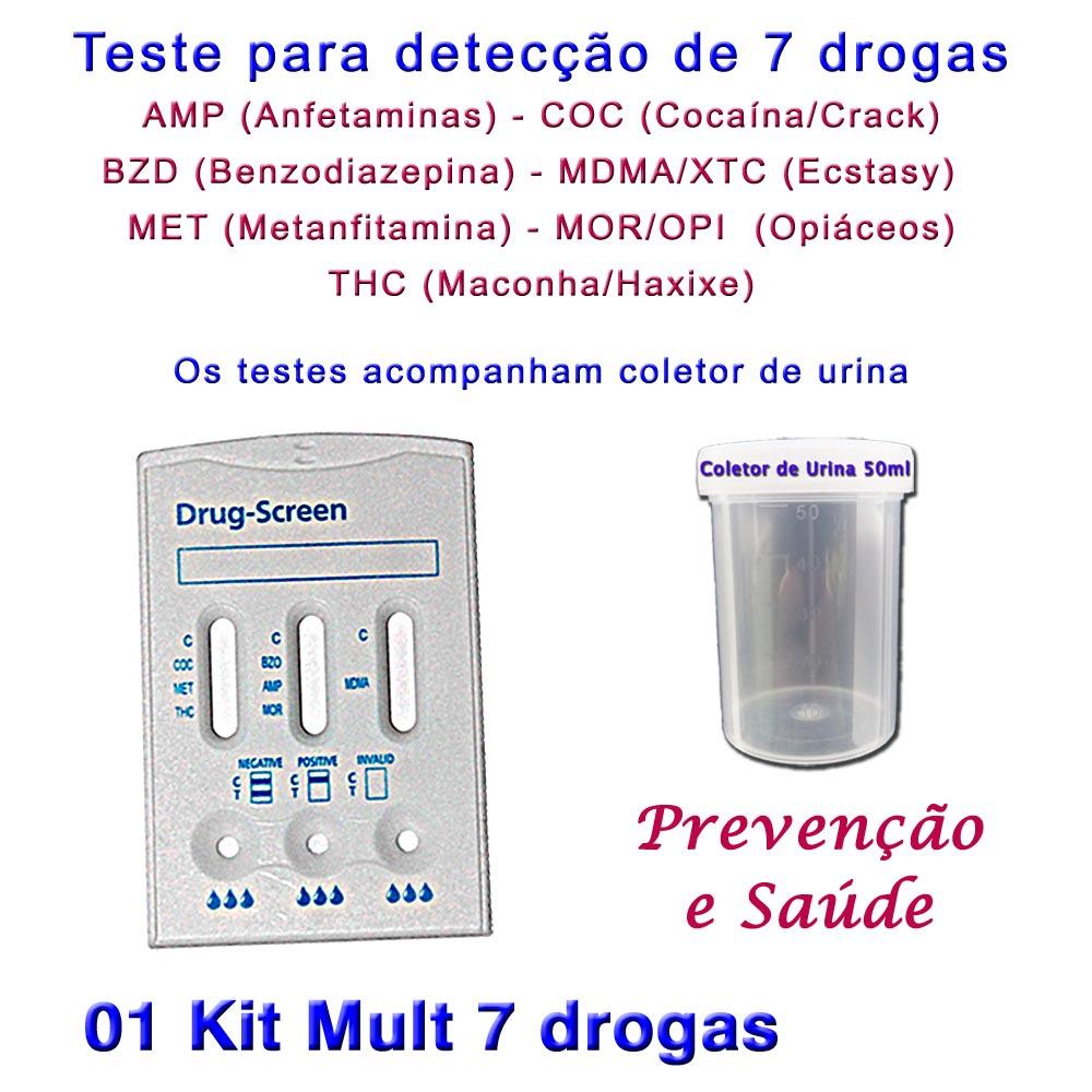 01 Kit para testes de 7 substâncias  - Loja Saúde -Diagnósticos