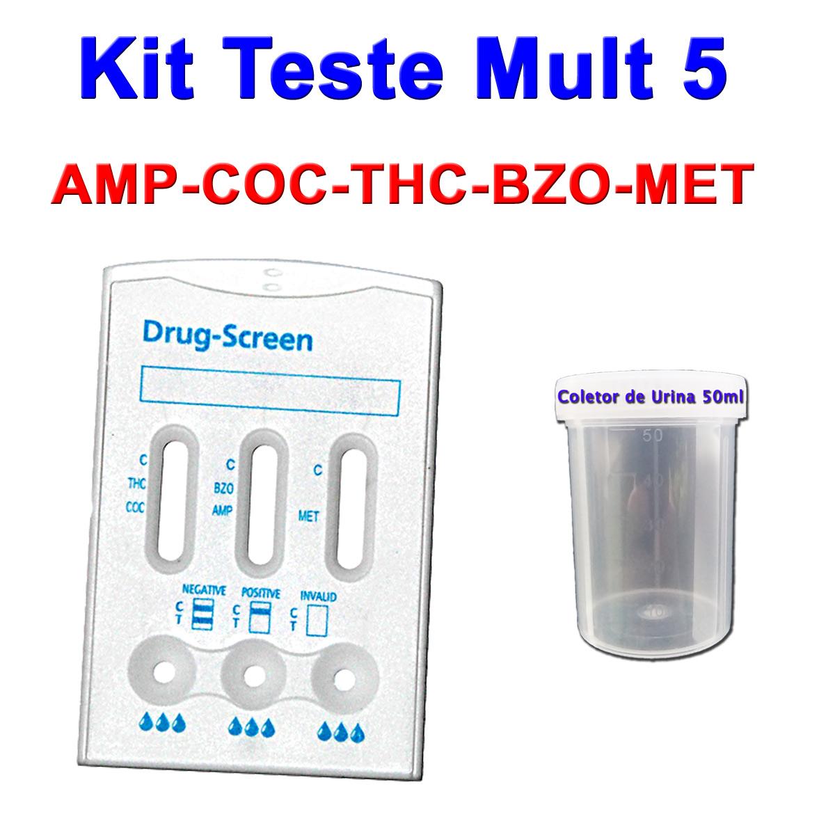 10 kits Para Teste Mult 5  - Loja Saúde - Diagnósticos e Produtos Naturais