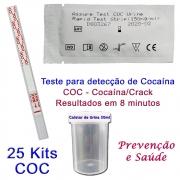 25 Kits para teste de COC-CRACK