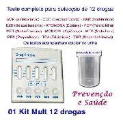 1 Kit Para Testes De Doze Substâncias Com Coletor De Urina