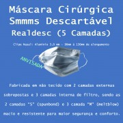 Máscara Cirúrgica SMMMS Descartável 5 Camadas 1000 Unidades