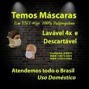 Máscaras Descartáveis TNT 50 Unidades