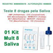 TESTE DE SALIVA DE FÁCIL APLICAÇÃO PARA 8 SUBSTÂNCIAS