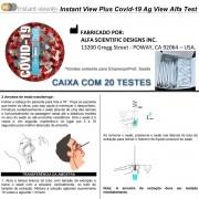 Teste Rápido COVID-19 Ag - Antígeno - ALFA - Caixa com 20 unidades