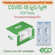 Teste Rápido COVID-19 IgM/IgG - Caixa com 40 testes