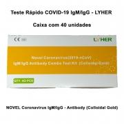 Teste Rápido COVID-19 IgM/IgG - LYHER - Caixa com 40 unidades