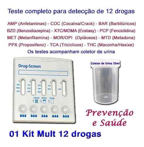 1 Kit Para Testes De Doze Substâncias Com Coletor De Urina  - Loja Saúde - Diagnósticos e Produtos Naturais