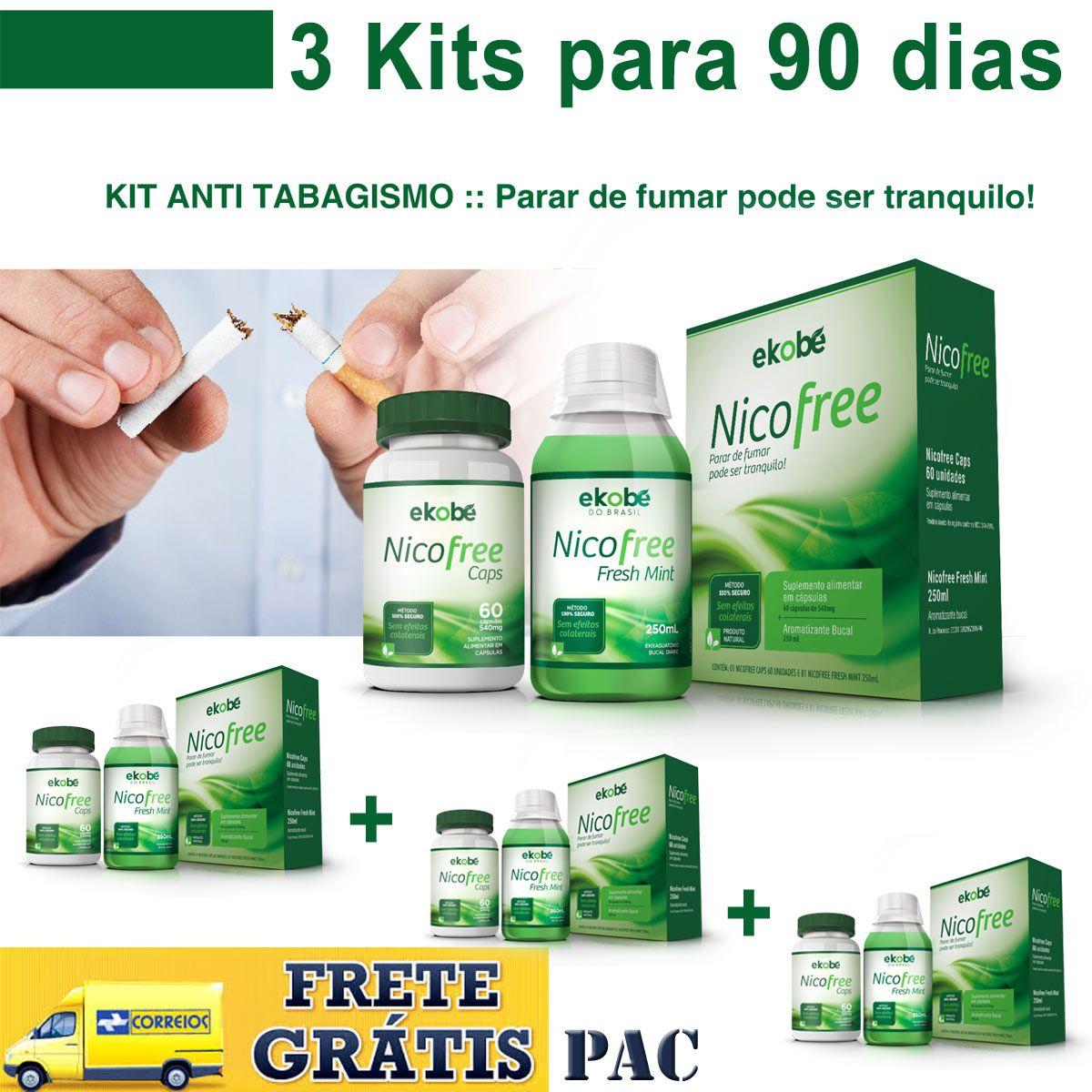 3 Kits Nicofree  - Loja Saúde -Diagnósticos