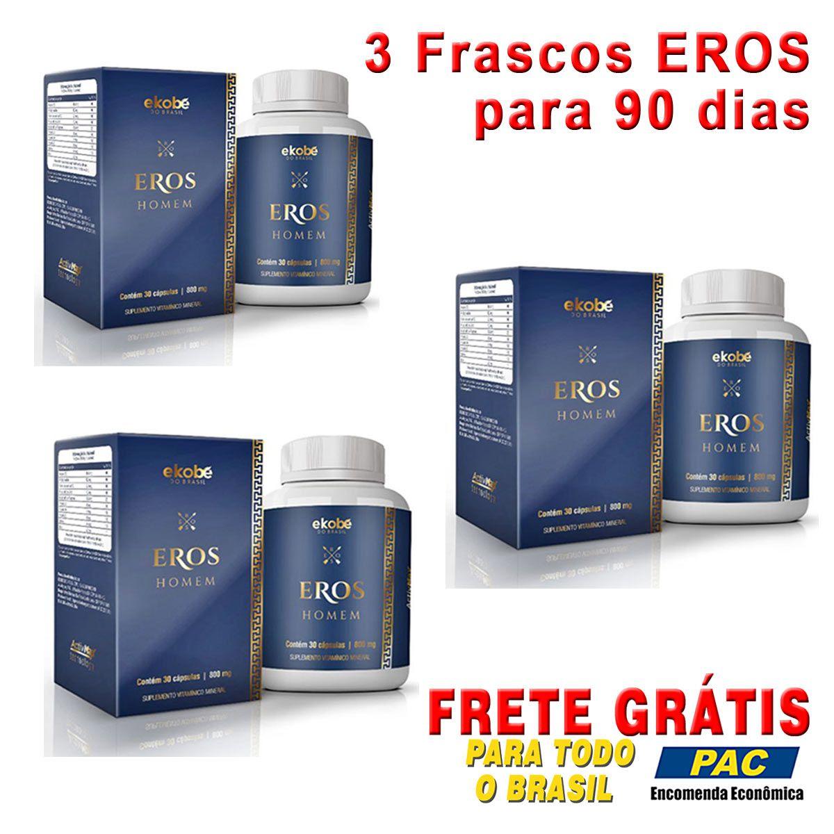 Estimulante Eros Homem 03 Unidades  - Loja Saúde - Produtos Naturais