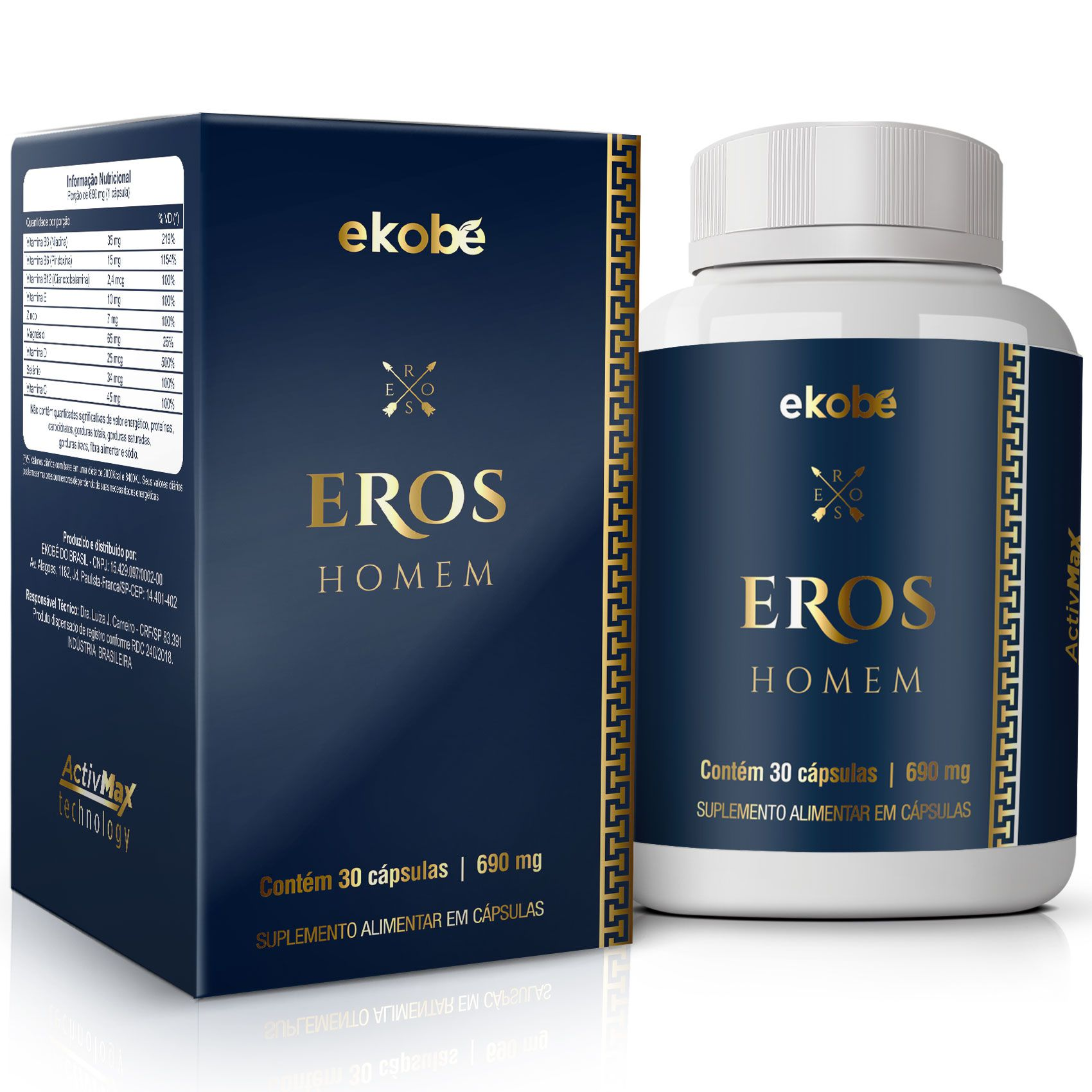 Estimulante Eros Homem 04 Unidades  - Loja Saúde - Produtos Naturais