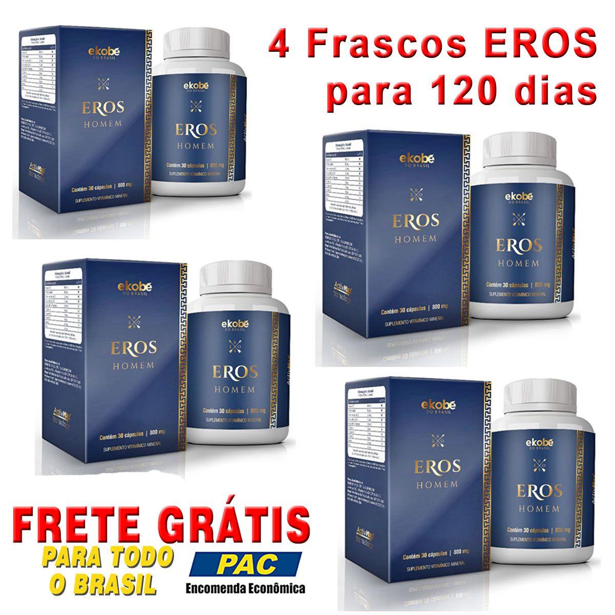 Estimulante Eros Homem 04 Unidades  - Loja Saúde -Diagnósticos