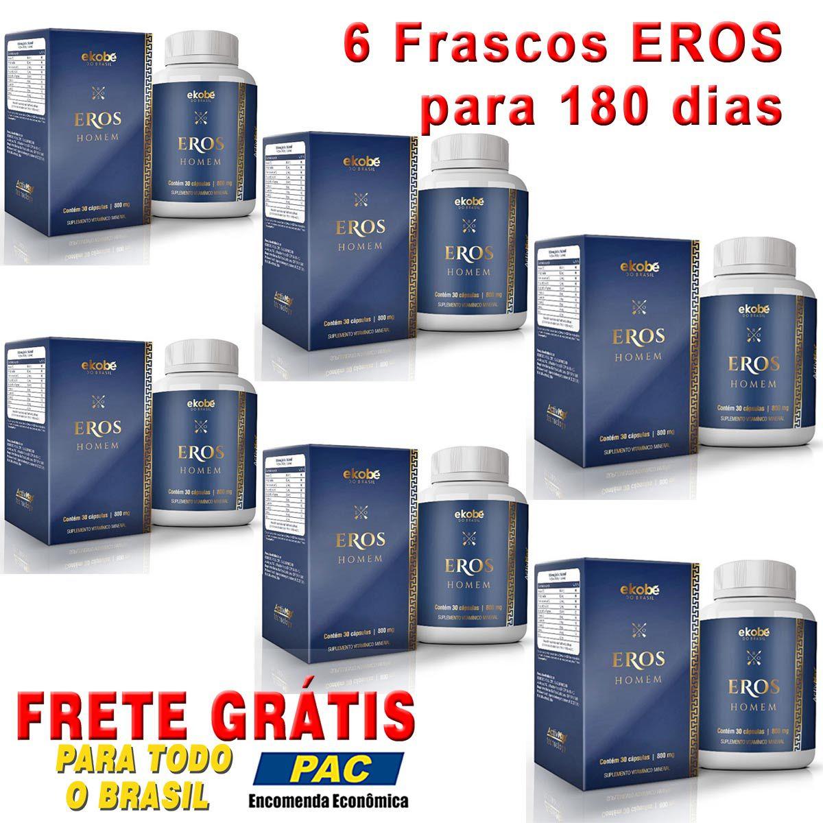 Estimulante Eros Homem Kit 06 Unidades  - Loja Saúde - Diagnósticos e Produtos Naturais