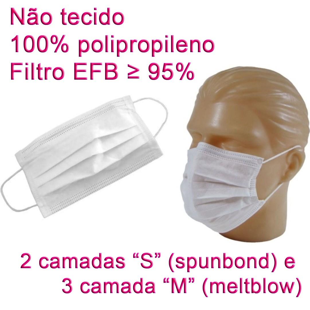 Máscara Cirúrgica SMMMS Descartável 5 Camadas 100 Unidades  - Loja Saúde -Diagnósticos