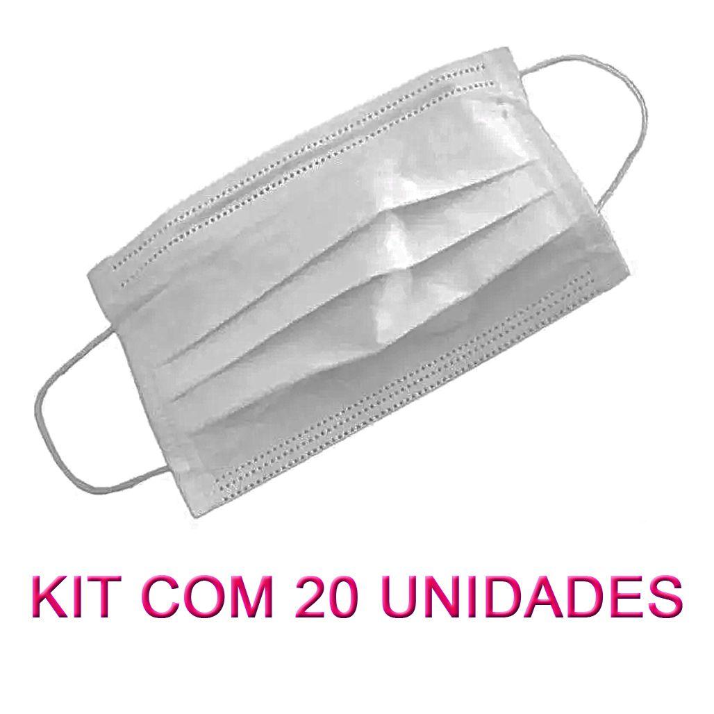 Máscara em TNT Branco 100% Polipropileno 20 Unidades  - Loja Saúde - Diagnósticos e Produtos Naturais