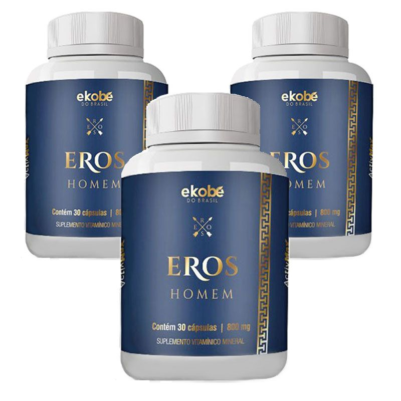 Estimulante Eros Homem 03 Unidades  - Loja Saúde - Diagnósticos e Produtos Naturais