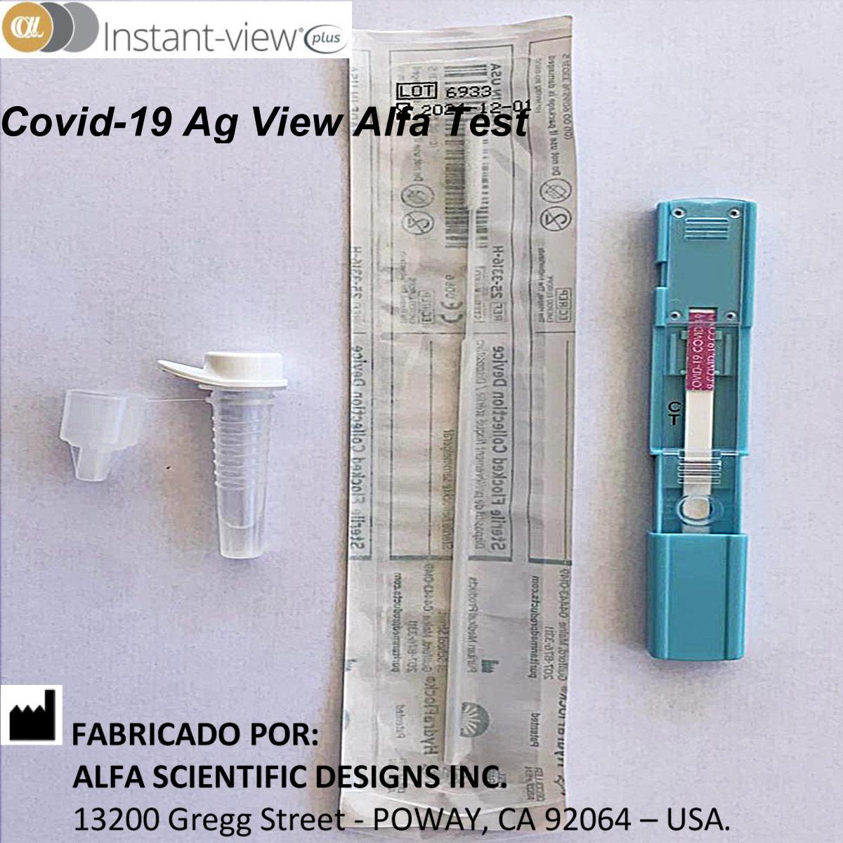 Teste Rápido COVID-19 Ag - Antígeno - ALFA - Caixa com 20 unidades  - Loja Saúde - Diagnósticos e Produtos Naturais