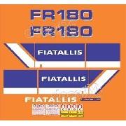 Kit Adesivos Fiatallis Fr 180n Fr180n