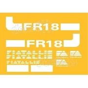 Kit Adesivos Fiatallis Fr 18 Fr18