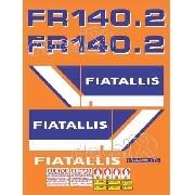 Kit Adesivos Fiatallis Fr 140.2 Fr140.2