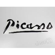 Emblema Resinado Citroen Picasso Preto Res9