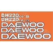 Kit Adesivos Daewoo Dh200 Lc-ii Dh220