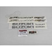 Jogo Faixa Emblema Adesivo Suzuki Bandit 1200s 2005 Verde