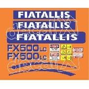 Kit Adesivos Fiatallis Fx 500 Lc