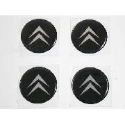 Adesivo Emblema Resinado Roda Citroen 51mm Cl2
