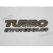 Adesivo Emblema Tracker Turbo Intercooler Resinado Trk06