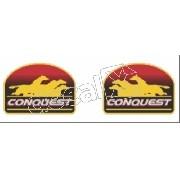 Emblema Adesivo Coluna Silverado Conquest 99 Par Resinado
