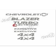 Kit Adesivo Chevrolet Blazer Exec.turbo Eletronic 2006 2008