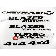 Kit Emblema Adesivo Blazer Executive 2007 4x4 Resinado