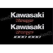 Kit Jogo Faixa Emblema Adesivo Kawasaki Versys Vrs12