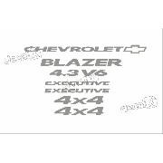 Kit Adesivo Chevrolet Blazer Executive 4.3v6 2008 S10kit6