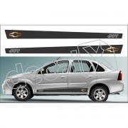 Adesivo Chevrolet Corsa Faixa Lateral 3m Cs0101