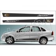 Adesivo Chevrolet Corsa Faixa Lateral 3m Cs0105