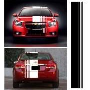 Adesivo Chevrolet Cruze Faixa Capo Teto Mala 3m Czrl01
