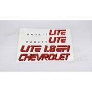 Adesivo Chevrolet Kadett Lite 1.8 Efi Lateral Kdtlt2