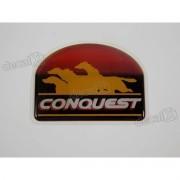 Adesivo Emblema Conquest Silverado Esq. Resinado Dx0038