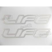 Adesivo Emblema Life Celta Classic Corsa Resinado Prata Par