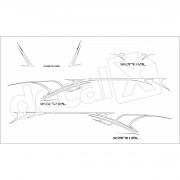 Adesivo Faixas Mitsubishi L200 Triton Animal Lta001