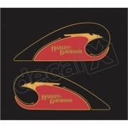 Adesivo Tanque Harley Davidson Custom adt015