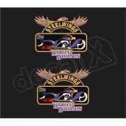 Adesivo Tanque Harley Davidson Custom adt022
