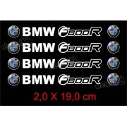 Adesivos Centro Roda Refletivo Moto Bmw F800r Rd2 Decalx