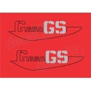 Emblema Adesivo Bmw G650 Gs Vermelha Par Decalx