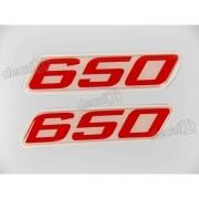 Emblema Adesivo Resinado Kawasaki 650 9x02 Cms Re57
