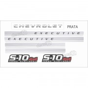Faixa Adesivo Chevrolet S10 Executive 4x4 2009 A 2011 Prata