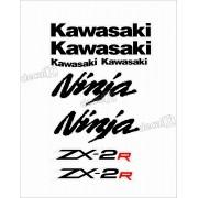 Jogo Faixa Emblema Adesivo Kawasaki Ninja 250r NINJA ZX-2r 25010
