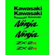 Jogo Faixa Emblema Adesivo Kawasaki Ninja 250r NINJA ZX-2r 25013